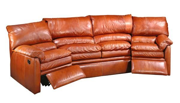 Lovely Curved Sofa With Recliner Curved Sofas And
