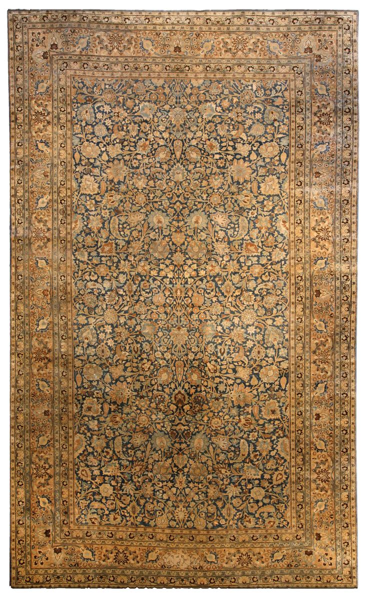 Persian Rugs: Persian Rug (antique) Rug In Gold Color, Oriental Rug,