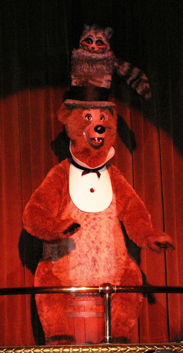 Henry, from the Country Bear Jamboree, in Frontierland in the Magic Kingdom at Disney World. Subscribe to our free newsletter for great Disney World tips and secrets - http://www.buildabettermousetrip.com/disney-freebies/
