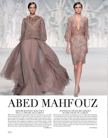 Focus on Abed Mahfouz in Rome chapter. #AbedMahfouz #HauteCouture #catwalks #fashion #woman #style #clothes #dress #look