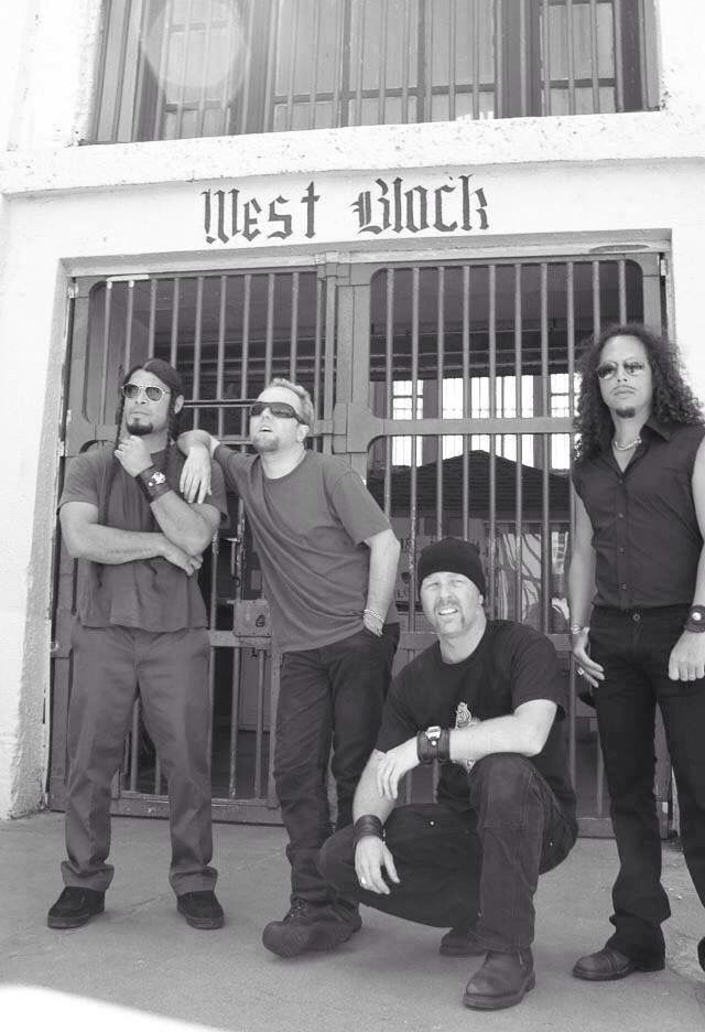 I believe this was at san quentin during the shooting of the st anger music video