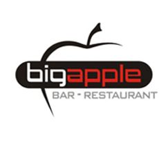 "by Argiro Stavrakou, year 2004, ""Big Apple"" bar -restaurant logo"