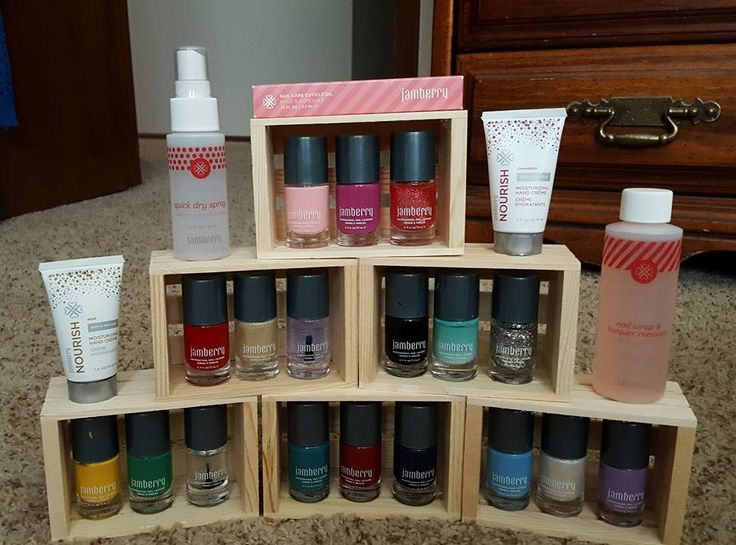 I found this little crates at Michael's for a dollar a piece. They are just perfect for displaying my current collection of lacquers, plus a few extra items. It was suggested I velcro the crates together to avoid clumsy hands, but I set it up just out of the way of mischief so folks knew these were look only, not try.