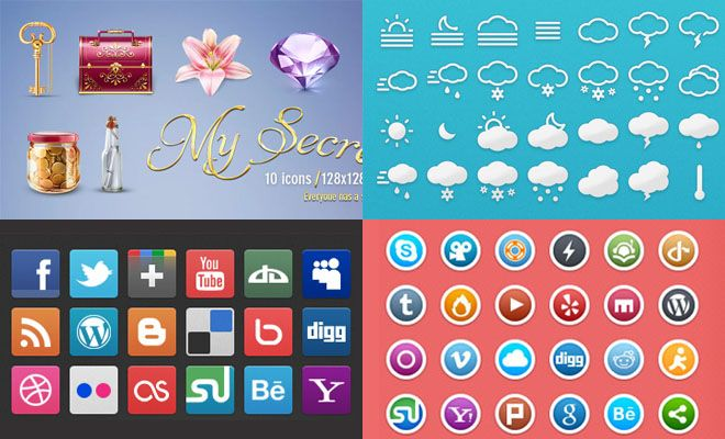 25 Free Professional Icon Sets for Graphic and Web Designers - Download Now