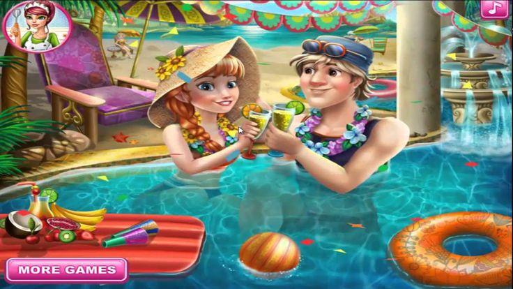 Disney Princess Games ♥ Princess Anna Pool Celebration ♥ Girl Games For ...