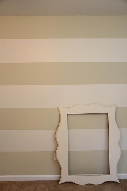 Diy accent wall diy timesaving tips for painting wall for Painting horizontal stripes on walls tips