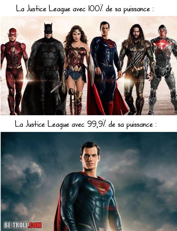 La Justice League avec 100% de sa puissance ! - Be-troll - vidéos humour, actualité insolite