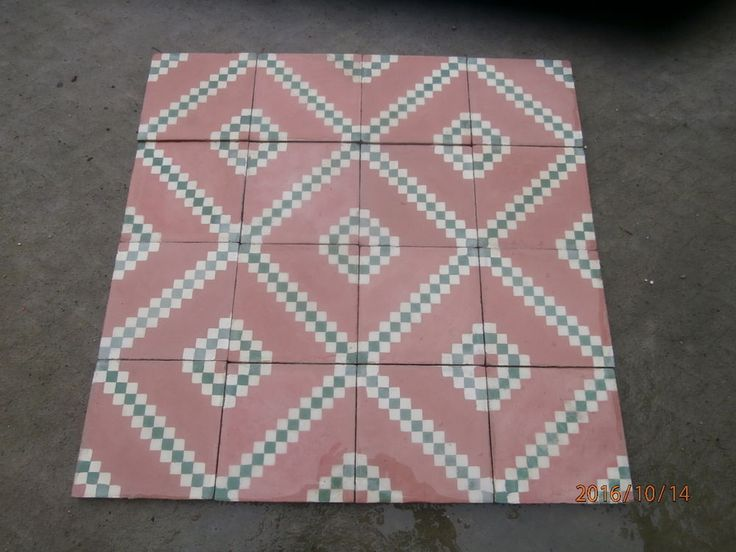 Really old Victorian floor tiles - set of 200 tiles - 8sqm of surface