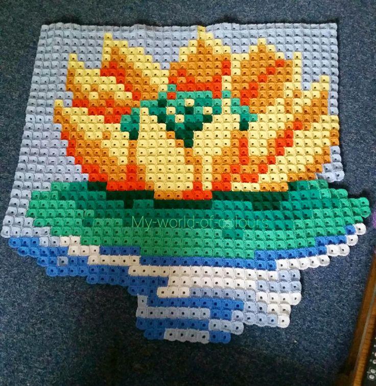 Seerosenpixel-Babydecke von Lisa Häkelt - My world of crochet