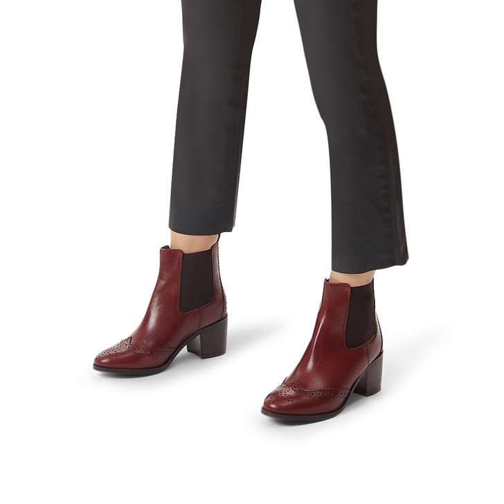 authentic good out x first look Shake Brown Leather Block Heel Ankle Boots By Carvela | Kurt ...