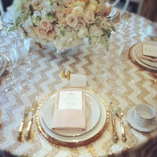 this is what i want my website to look like. LOVE the colors, the sparkle, and the pattern.: Chevron Tablecloths, Chevron Linens, Receptions Tables, Sequins Chevron, Chevron Tables, Gold Table, Gold Accent, Wedding Flower Centerpieces, Gold Chevron