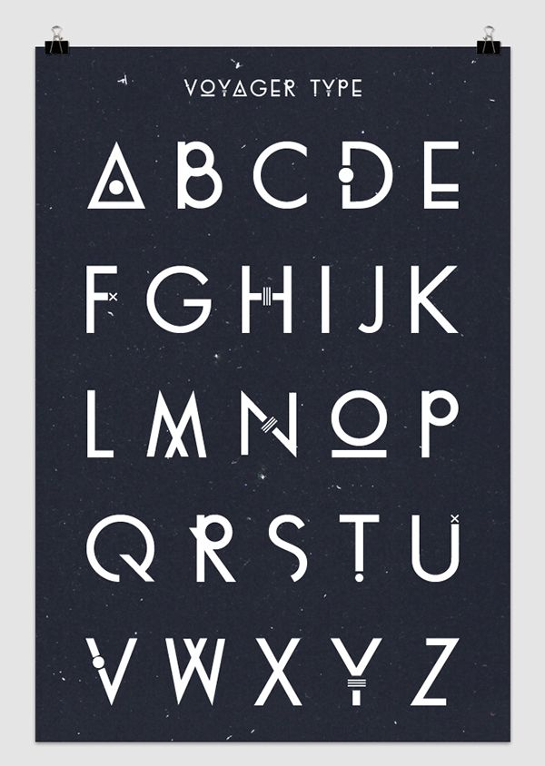 Voyager Font by    Christophe Barneau  on Behance