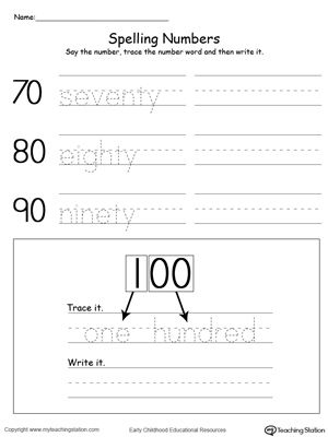 tracing and writing number words by tens 70 100 1st grade math words and spelling. Black Bedroom Furniture Sets. Home Design Ideas