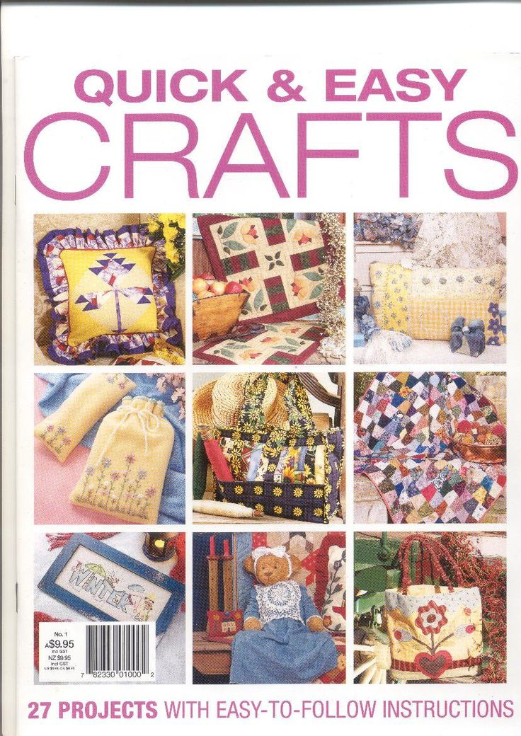 Australian Craft magazine, Quick and Easy Crafts, 27 projects by KnitsanStitches on Etsy