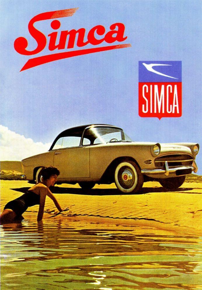 SIMCA Plein Ciel affiche.