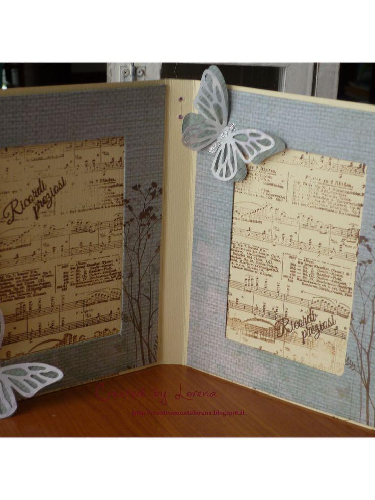 CreativaMEnte Lorena: Card portafoto e una canzone nel cuore.