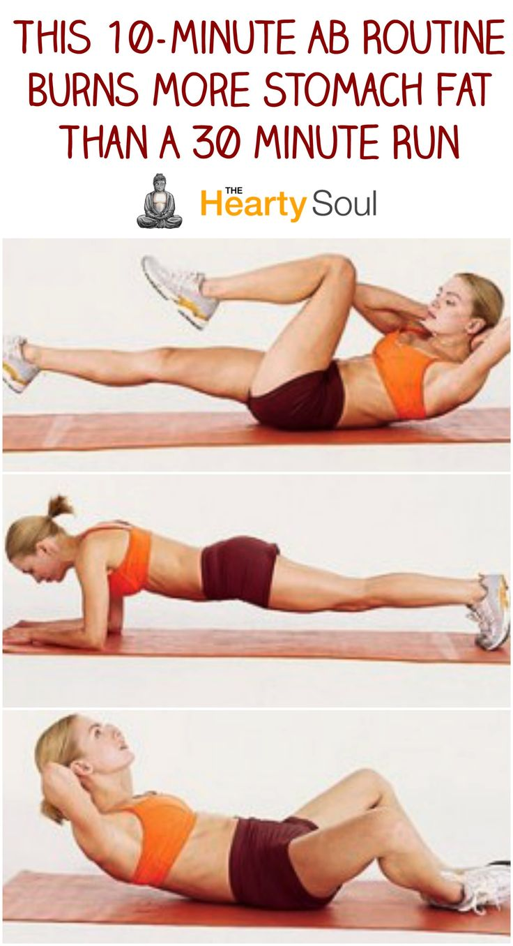 10-Minute Ab Routine That Burns More Stomach Fat Than A 30 Minute Run