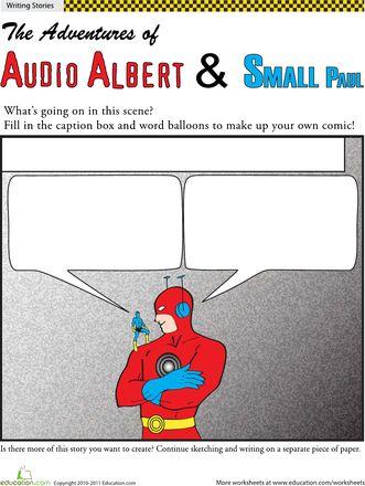 Worksheets: Make Your Own Superhero Comic