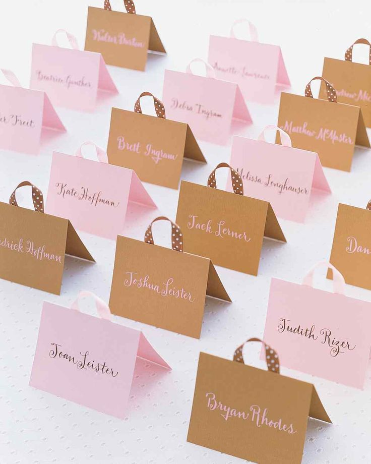 Handbag Seating Cards