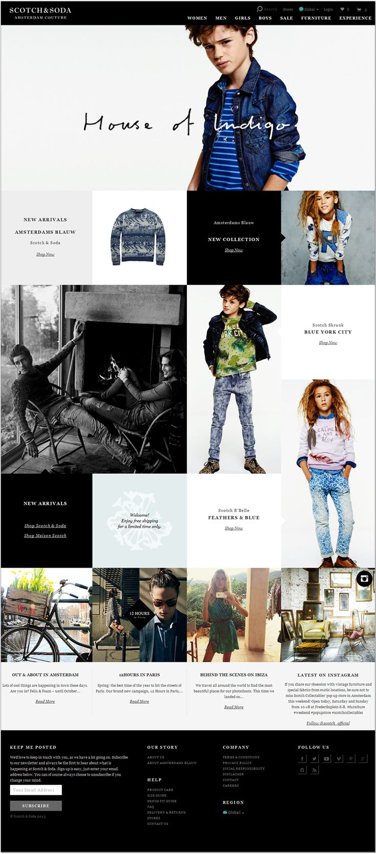 A nicely designed responsive, e-commerce site.