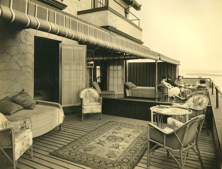 """Throwback Thursday - One of the """"sleeping porches"""" at the historic Oak Bay Beach Hotel, something you don't see too often anymore!"""