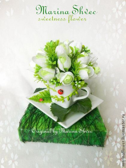 Букеты ручной работы. Ярмарка Мастеров - ручная работа Букет из конфет в чашке. Handmade.