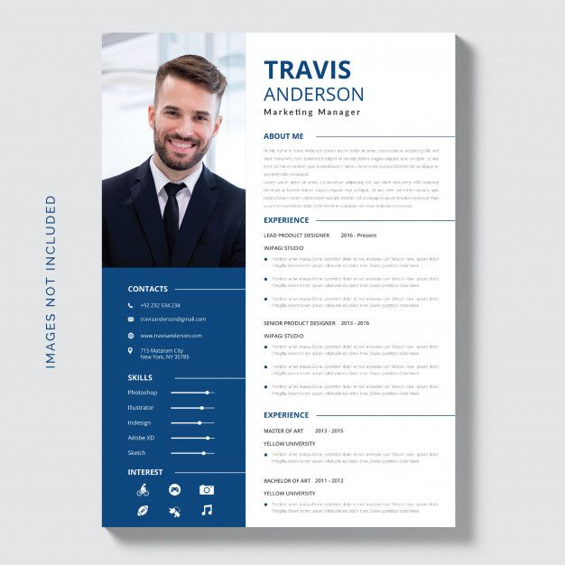 Download White Cv Template With Blue And Grey Details For Free Cv Template Creative Cv Resume Design Template