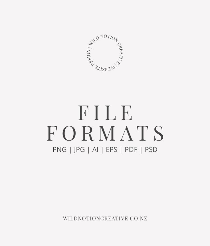 Graphic Design File Formats - Wild Notion Creative