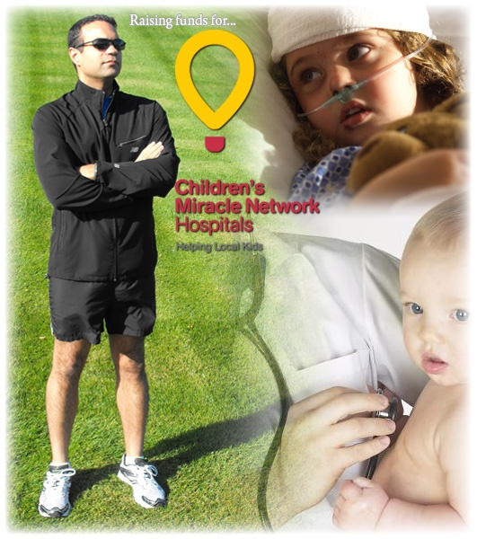 This guy is RUNNING across the United States, from Washington DC to LA, just for fun.  He runs pushing  a jogging stroller, to increase awareness for the Children's Miracle Network.  He is on day 4 of 72.  Check it out.