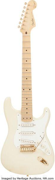 Musical Instruments:Electric Guitars, Circa 1990s Fender Maestro Alex Gregory Signature StratocasterCream Solid Body Electric Guitar, Serial #MAG0003....
