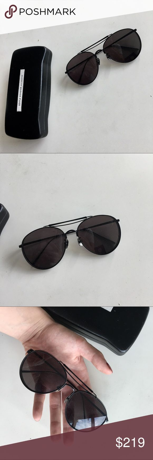 Authentic Gentle Monster Big Bully Black Sunglass Gentle Monster. Big Bully Sunglasses. Black. Excellent condition. Worn several times, Authenticity 10000%. Come with the original box. Accessories Sunglasses