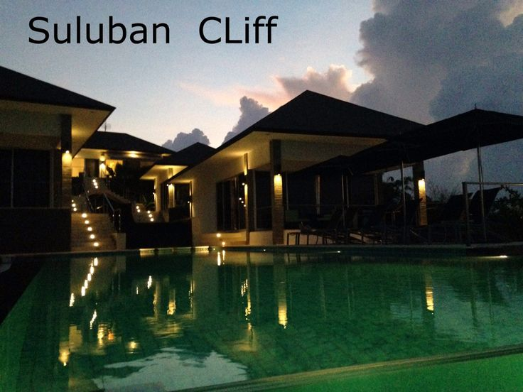 Suluban Cliff Bali Villa across the infinity pool.  www.sulubancliffbali.com