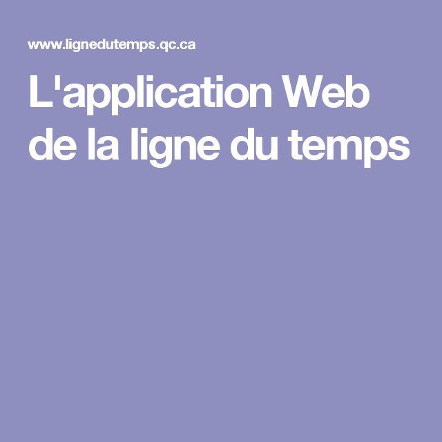 L'application Web de la ligne du temps