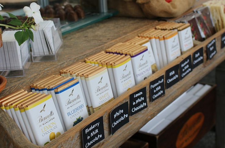 Bennetts signature chocolate bars in an array of flavours.