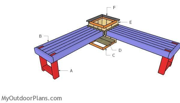 Corner Bench With Planter Box Plans Planter Box Plans Garden Box Plans Planter Boxes
