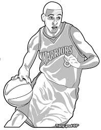 Image Result For Color Page Steph Curry Swings Happy