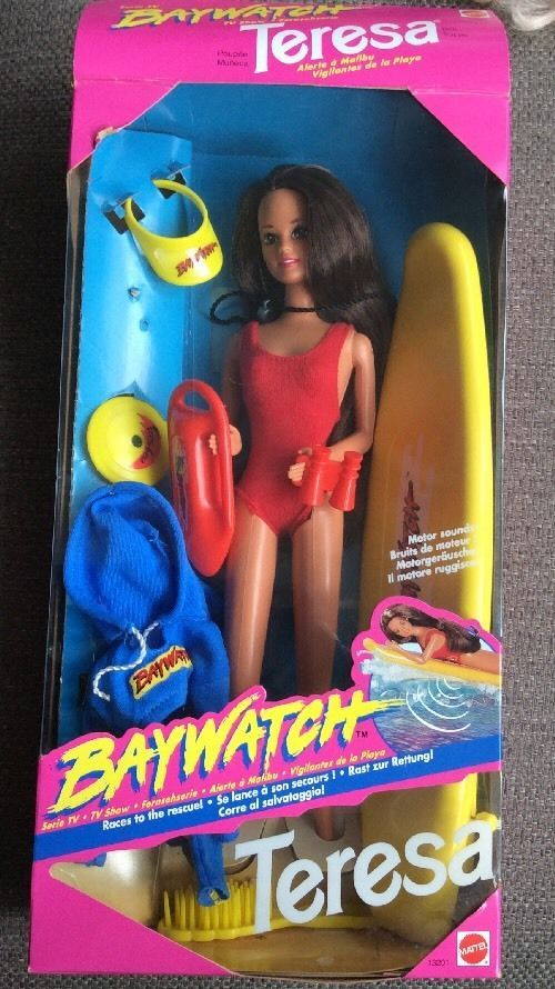 VINTAGE 1994 Baywatch TV Show Teresa Barbie DOLL with Orig. Box and accessories