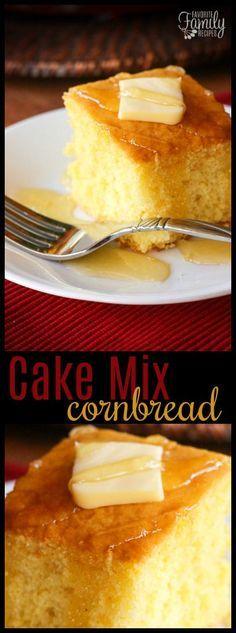 Ce pain de maïs facile à mélanger est un mélange parfait entre un gâteau et un pain de maïs. La …   – This week