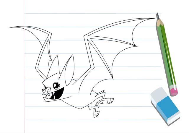 آموزش نقاشی با طرح هندسی خفاش نقاشی حیوانات کارتونی Drawing Painting Kids Brushing Teeth Toothbrush Holder