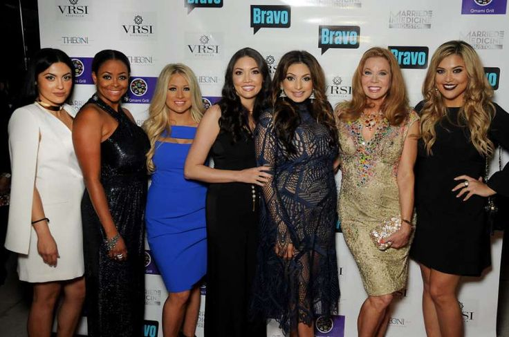 "From left: Pegah Pourasef, Dr. Ashandra Batiste, Rachel Suliburk, Dr. Erika Sato, Dr. Monica Patel, Cindi Rose and Dr. Elly Pourasef at the ""Married to Medicine Houston"" premier party at VrSi on Thursday. Photo: Dave Rossman, For The Chronicle / Dave Rossman"