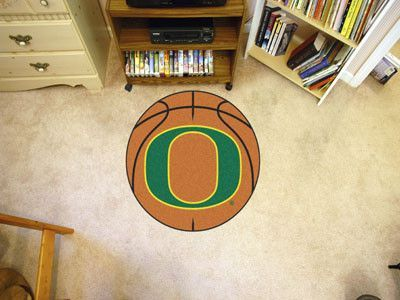 University Of Oregon Basketball Mat 26 Diameter