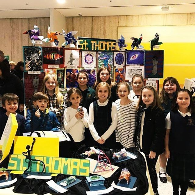 Students from St. Thomas the Apostle School in Delmar presented their artwork at the Empire State Plaza yesterday as part of the kickoff for #CatholicSchoolsWeek #CSW17