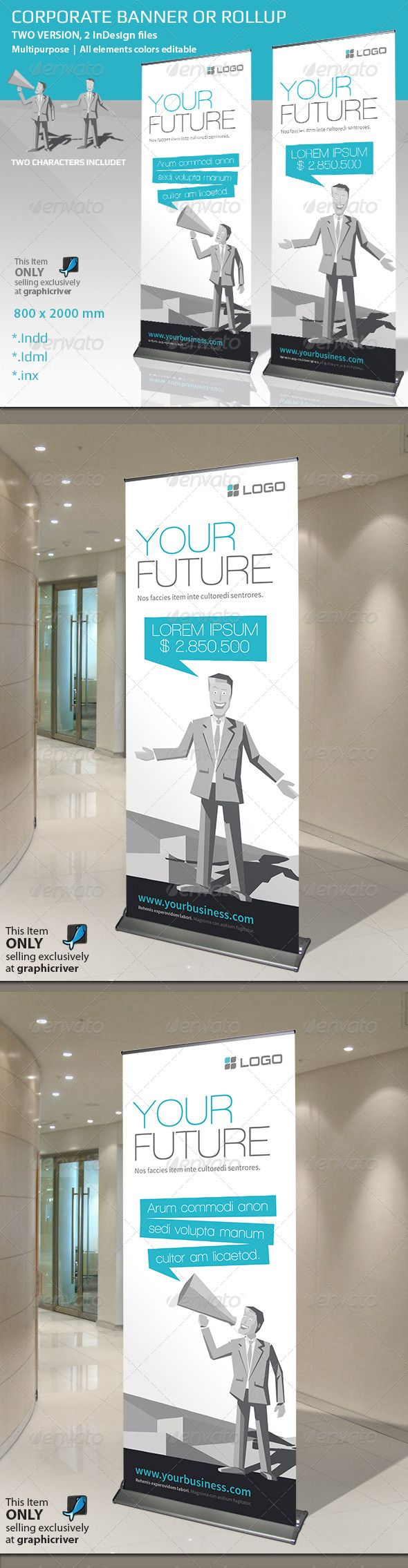 Corporate Banner or Roll-up - Signage Print Templates