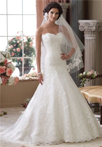 DAVID TUTERA FOR MON CHERI 114283 this shape and fabric is georgeous! I want to try this on. It's at Tiffany's