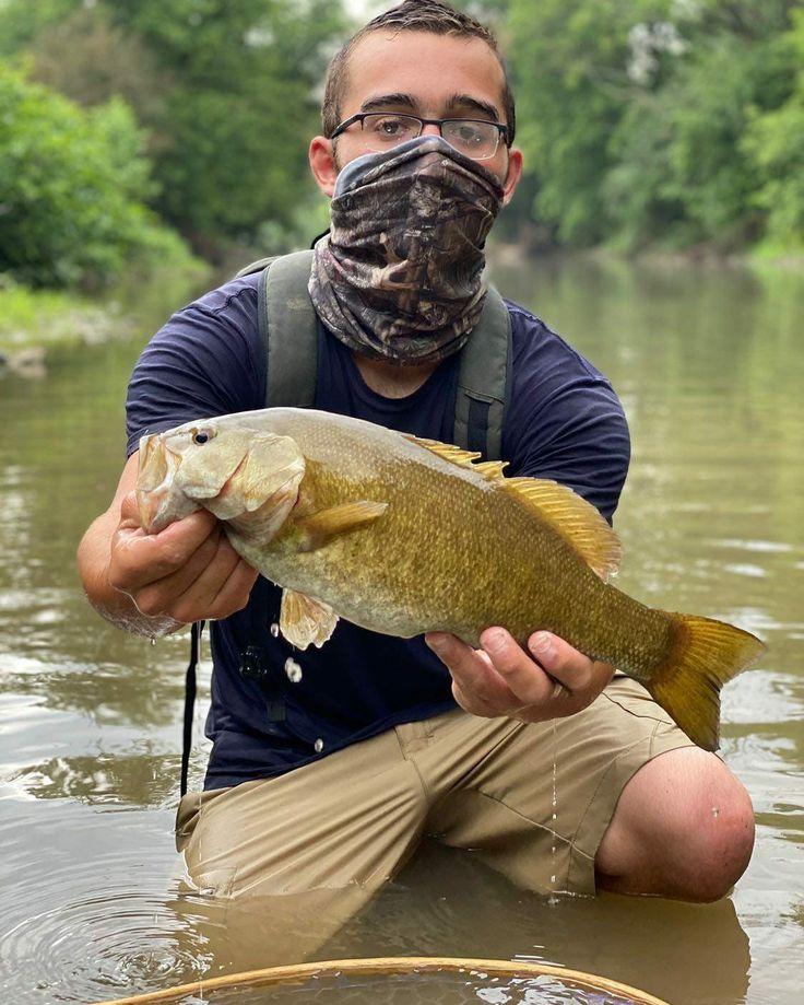 Smallmouth Bass Fishing With Quikcamo Face Mask Face Mask Face Green Camo