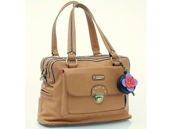 gr8x Cindy Double Zip Satchel Carry All Nappy Bag - Tan