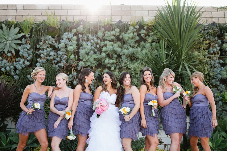 Super cute Bridesmaids Dresses from BCBG. PLUS so many great details at this Smog Shoppe wedding on Style Me Pretty ~ http://stylemepretty.com/2012/03/23/los-angeles-wedding-by-love-ala-photography/ ~  Photography by Love Ala