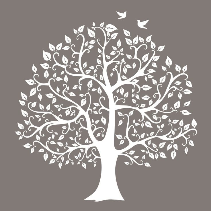 Neutral Tree Silhouette - Urban Nest Designs