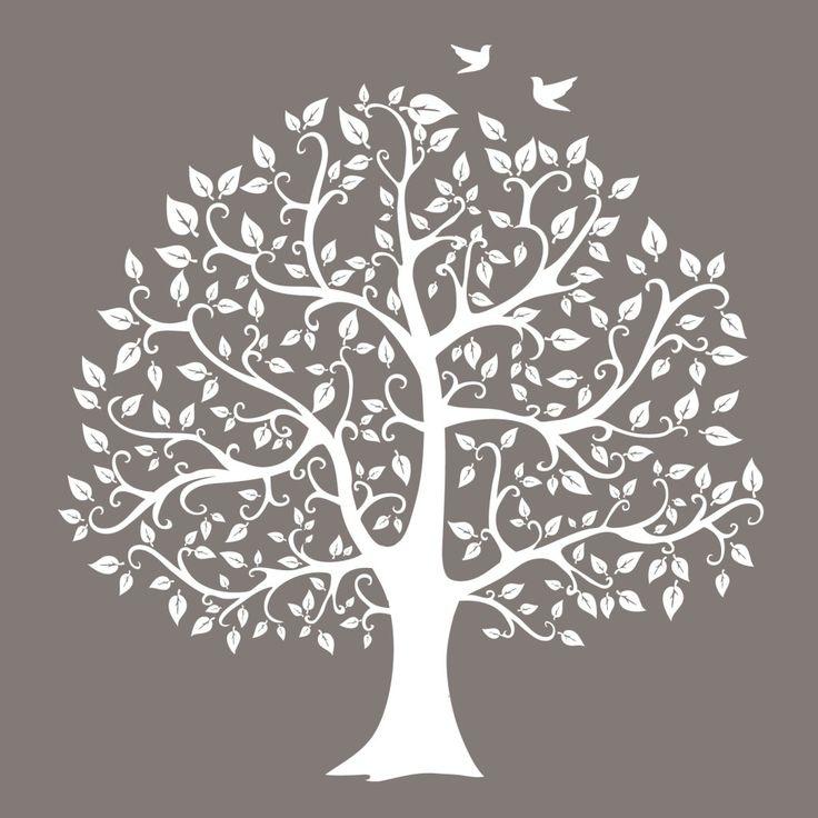 Neutral tree silhouette urban nest designs future for Tree wall design ideas