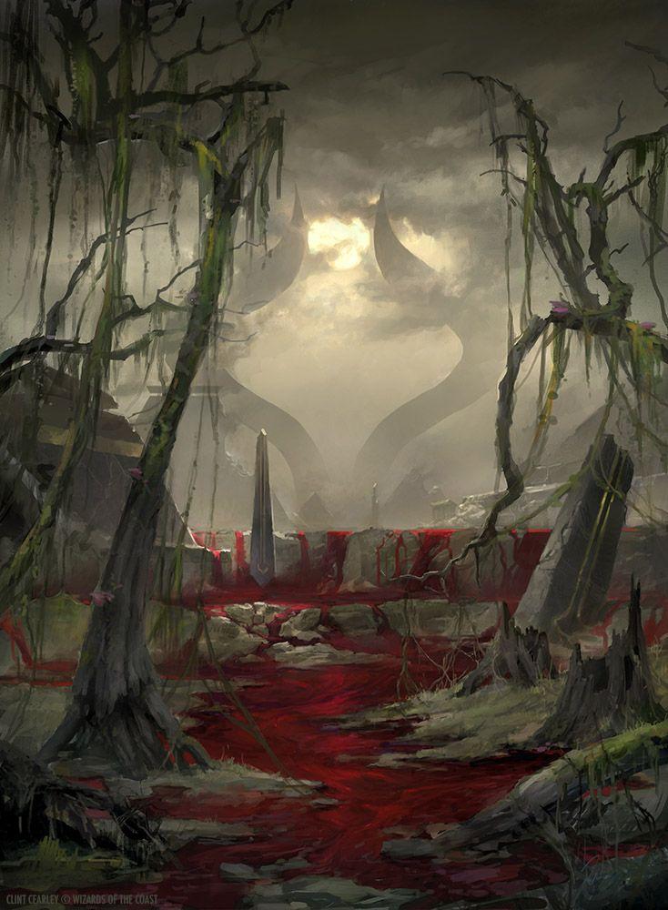 Swamp Devastated - MTG by ClintCearley.deviantart.com on @DeviantArt